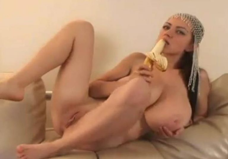 Busty Arab bitch gets horny stripping
