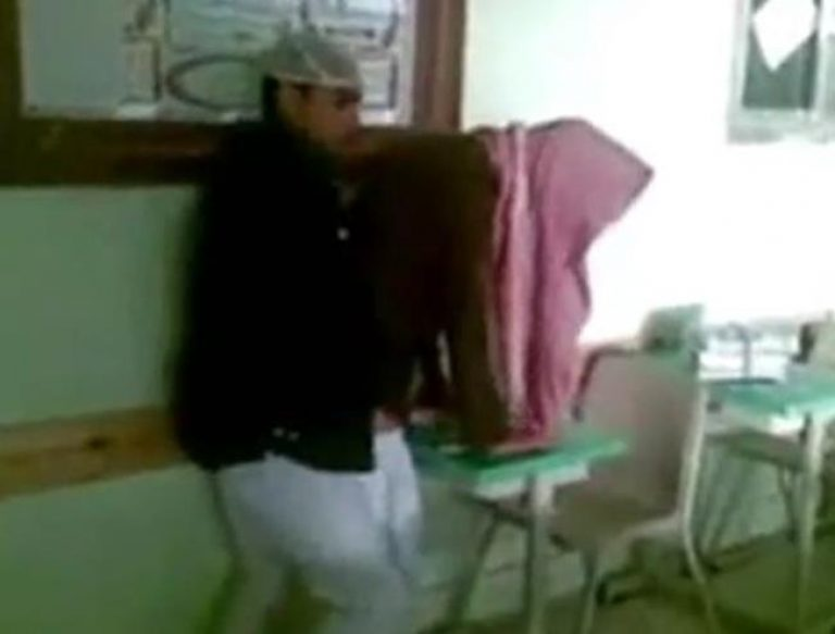 Saudi boy at School